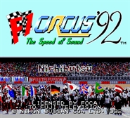 F1 Circus 92 – The Speed of Sound